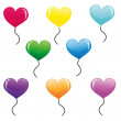 Heart balloons — Stock Vector