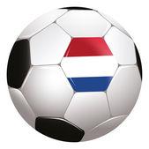 オランダの旗を持つ soccerball — ストック写真