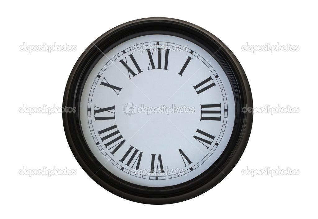 孤立的时钟无指针– 图库图片