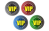 VIP guest badges — Stock Vector