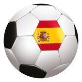 Soccerball with Spain flag — Stock Photo