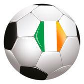 Soccerball with Irish flag — Stock Photo