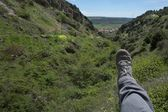 Foot on the mountains — Stock Photo