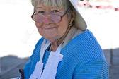 Grandmother smile — Stock Photo