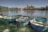 Salamanca från floden — Stockfoto