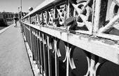 Bridge Sanchez Fabres locks — Stock Photo