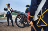 Feeding the cannon — Foto de Stock