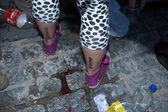 Alcohol on pavement — Foto de Stock