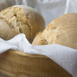 Basket of bread rolls — Stock Photo
