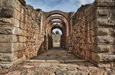 Main entrance of Amphitheatre of Merida — Stock Photo