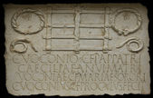 Funerary plaque belong to the Voconios Family — Stock Photo