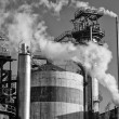 Steam smoke stacks — Stock Photo