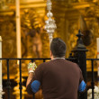 Virgin of El Rocio devout praying — Stock Photo #33109819