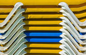 Sun lunger piled — Stock Photo