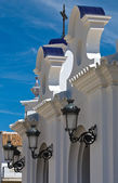 Virgin of El Rocio streetlights — Stock Photo