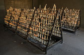 El Rocio candle flames stands — Stock Photo