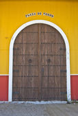 Bullring building door — Stock Photo
