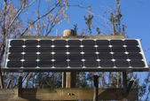 Solar-panel stand-alone — Stockfoto