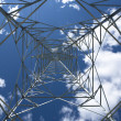 Transmission tower inside — Stock Photo