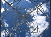 Transmission tower inside — Stock Photo