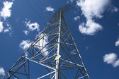 Transmission Tower over the sky — Stock Photo