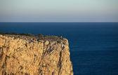 Tourist on the edge — Stock Photo