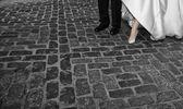 Wedding pavement — Stock Photo