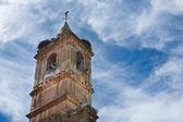 Belfry Of spanish church — Stock Photo