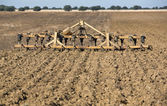 Seedbed cultivator-harrow — Stock Photo