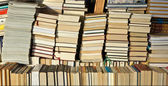 Books piled — Stock Photo