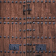 Baroque wooden door — Stock Photo