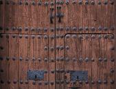 Baroque wooden door — Stock Photo