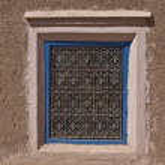 Adobe morocco window — Stock Photo