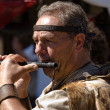 Stock Photo: Middle Ages flute man