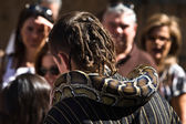 Snake enchanter — Stock Photo