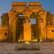 facade of kom ombo temple by night — Stock Photo