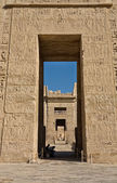Hieróglifos no templo de medinat habu — Foto Stock