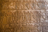Carvings at Medinet Habu — Stock Photo