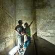 The burial chamber inside the Red Pyramid in Dahshur — Stock Photo #37998687
