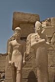 Colossal statues at Karnak Temple — Stock Photo