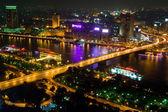Cairo bridge night — Stock Photo