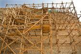 Pyramid scaffoldings — Stock Photo