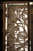 Wrought iron door, Cordoba — Stock Photo