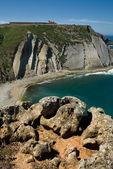 悬崖和圣所的 cape espichel 意见 — 图库照片