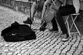 Street cellist — Stock Photo