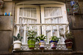 Old Vigo window, Spain — 图库照片