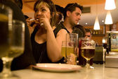 Having tapas in Salamanca — Stock Photo