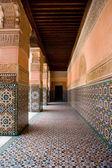 Ben Youssef Madrasa porch — Stock Photo