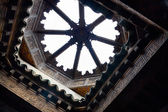 Looking up to the roof of the Ben Youssef — Stock Photo