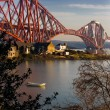 Forth Bridge and raw boat — Stock Photo
